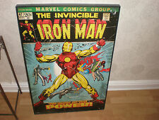 MARVEL COMICS - IRON MAN - PYRAMID INTERNATIONAL - WOODEN WALL ART PICTURE