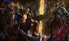 Poster 42x25 cm League Of Legends Skins Piratas / Pirate Skins LOL