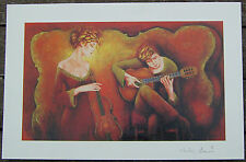 """CHARLES LEE """"GUITAR SERENADE""""SERIOLITHOGRAPH in COLOR-SIGNED-2005"""