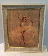 "Vintage Mid Century 11""x14"" Fried Pal Ballerina Lithograph Print In Frame"
