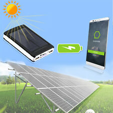 13000mAh Solar Power Bank Battery Charger Dual USB For Mobile Phone PDA MP3 ABLE