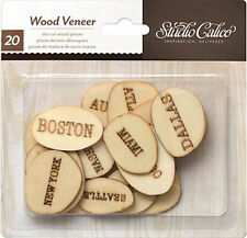 Studio Calico U. S. CITIES (2O) WOOD VENEER PIECES scrapbooking