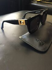 Versace Vintage Sunglasses 465A Col.852 Black With Gold Medusa 100% Authentic