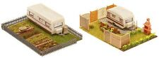 NEW ! HO Faller Two Trailer Park Gardens with Trailers : Building KIT # 180495