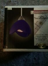 NOS Hampton Bay dimensions Designer Lighting Halogen Track Pendants Colbalt Blue