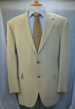 Alan Flusser 100% Silk Sport Coat Blazer 44R Jacket Beige 2btn NWOT New Smooth!!