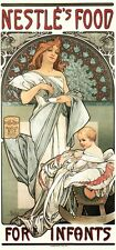 Nestles Food For Infants by Alphonse Mucha Art Nouveau Deco Picture Poster Print