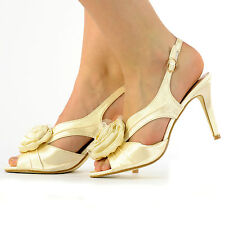 NEW LADIES HIGH HEELS BRIDAL WEDDING PARTY PROM SANDALS SIZE 3-8