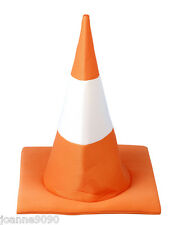 TRAFFIC CONE HAT FUNNY STAG HEN NIGHT STUDENT FRESHER'S WEEK FANCY DRESS COSTUME
