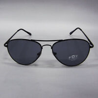 New Wave Industrial Gothic Horror Goth Punk 70 80s Black Lens Aviator Sunglasses