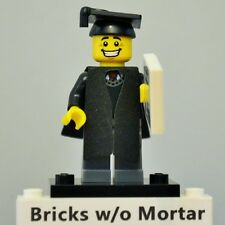 New Genuine LEGO Graduate Minifig with Diploma Tile Series 5 8805