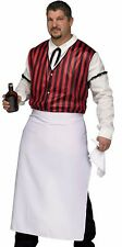 Saloon Keeper Costume Wild West Bartender Westworld Mens Adult - Plus Size XL -