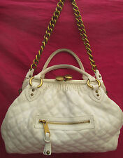 -AUTHENTIQUE  sac à main STAM de MARC JACOBS  blanc  cuir   TBEG vintage bag