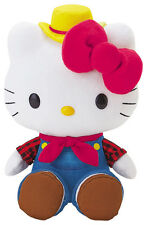 "Sanrio Hello Kitty Stuffed Toy Doll Mascot 8"" Plush: Fruit Vegetable Farmer"