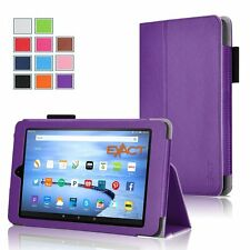 Exact Pro Magnetic Folio PU Leather Case Stand 4 Amazon Kindle Fire HD 7 Purple