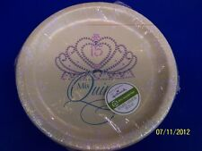 "Mis Quince Anos Quinceanera Tiara 15th Birthday Party Bulk 10.5"" Banquet Plates"