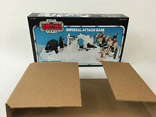 replacement vintage star wars esb imperial attack base box + inserts