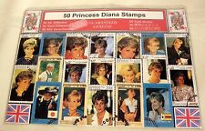 Collection Of 50 Different Diana Princess Of Wales Stamps
