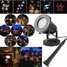 LED Landscape Projector Light Waterproof 12 Patterns for Halloween Xmas Party
