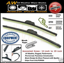 "2PC 22"" & 19"" Direct OE Replacement Premium ALL Weather Windshield Wiper Blades"