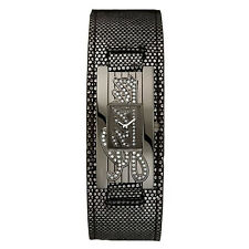 New GUESS Women Sparkly Black Leather Watch U95171L2 new with tag and box