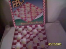 BOSTON WAREHOUSE TRADING CORP.  BBQ DEVILED EGG PLATE BRAND NEW IN BOX CERAMIC