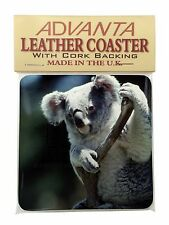 Cute Koala Bear Single Leather Photo Coaster Animal Breed Gift, AKB-1SC