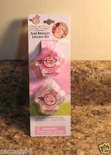 Angry Birds Slap Bracelet Lipgloss Set Strawberry Bubble Gum NEW