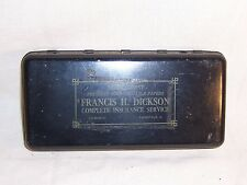 Antique Cash Strong Metal Lock Box Dickson Insurance Pinesville Ohio Safe no key