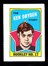 1971-72 TOPPS STORY BOOKLETS #17 KEN DRYDEN CANADIENS