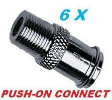 6 X EASY PUSH ON MALE to FEMALE CONNECTOR RG6 RG59 ADAPTER COUPLER COAXIAL CABLE