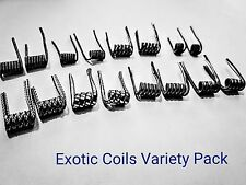 (16) Exotic Coils Variety Pack (Twisted Coils Vape Coils Rda Rba Coils)+ Cotton