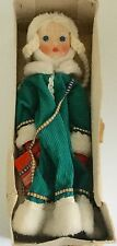 "Vtg Russian Winter Snow Maiden DOLL Cotton Clothing 17"" Snegurochka W/ Box"