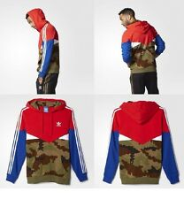 Adidas Men's Originals Essentials Pullover Hoodie Red Camo Size S RARE!!!!