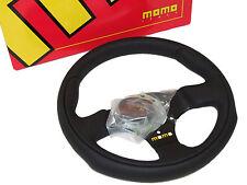MOMO Steering Wheel - Team (280mm/Leather/Black Spoke)