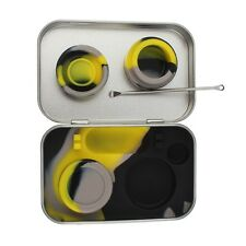 2x5ml Stainless Steel Tin 4 in 1 Container Silicone Jars Wax Non-Stick with Tool