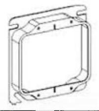 Orbit 42050 4 Inch Square 2-Gang 0.5 Inch Raised Steel Device Ring