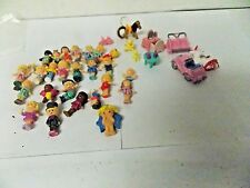 Polly Pocket Loose People Figures , Vehicles  Set of 34