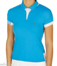 WOMEN'S K-SWISS 66 POLO TOP  - BLUE ASTER/WHITE -  SIZE SMALL - 10  ***NEW***
