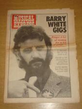 NME 1975 APR 12 BARRY WHITE RINGO PATTI SMITH NAZARETH