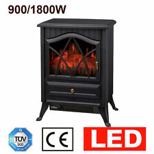 LOG BURNING FLAME EFFECT STOVE HEATER ELECTRIC FIRE FIREPLACE 2 HEAT SETTING