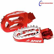 APICO PRO-BITE RED FOOT PEGS FOR HONDA CR125 CR250 2002 - 2007