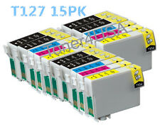 15 Pack T127 XL Ink cartridge For Epson NX625/Workforce 60 630 633 635 840