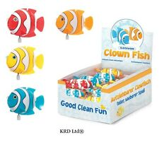 Kids Wind Up Clockwork Clown Fish Bath Time Play Toy Child Party Bag Filler Gift