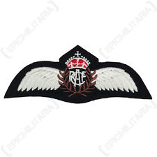 Royal Canadian Air Force PILOT WINGS Padded RCAF Uniform Patch Badge WW2 Repro