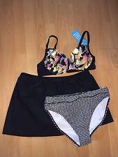 BNWT M&Co Swimskirt & Bikini Top + Bottoms, Size 18-20 - Super!