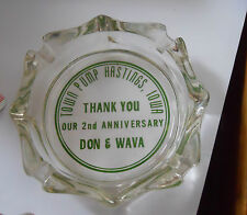 hastings iowa ashtray town pump 2nd anniversary advertising glass 1970's ? ia