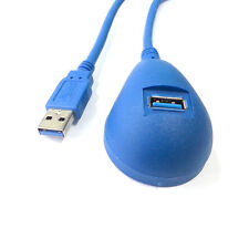 USB 3.0 male to Female Extension Dock station Docking Cable 1.5m Blue color