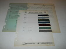 1941 WILLYS PAINT CHIP CHART COLORS SHERWIN WILLIAMS PLUS MORE