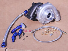 T3/T4 T04E HYBIRD STAGE3 TURBO 450+ VW JETTA GOLF PASSAT 1.8T 2.0T +OIL LINE KIT